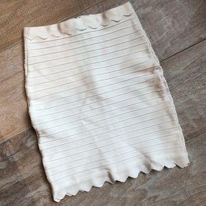 Dresses & Skirts - Scalloped Bandage Skirt